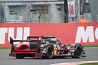 Lucas Di Grassi (BRA) / Loic Duval (FRA) / Oliver Jarvis (GBR) #8 Audi Sport Team Joest  Audi R18 e-tron quattro, during Free Practice 2  as part of the WEC 6 Hours of Silverstone 2016 at Silverstone, Towcester, Northamptonshire, United Kingdom. April 15 2016. World Copyright Peter Taylor. Copy of publication required for printed pictures.