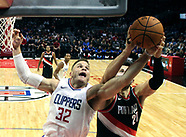 Basketball: 20171008 Clippers vs Trail Blazers