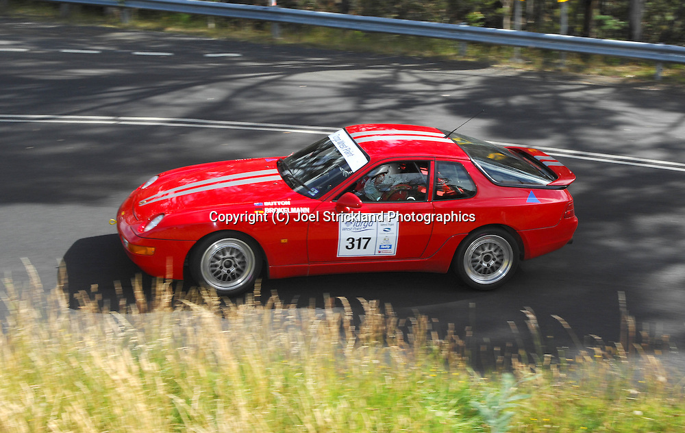 Knut Brokelmann & Tracey Button .1993 porsche 968CS.Day 2.Targa Wrest Point 2009.Southern Tasmania.1st of February 2009.(C) Joel Strickland Photographics.