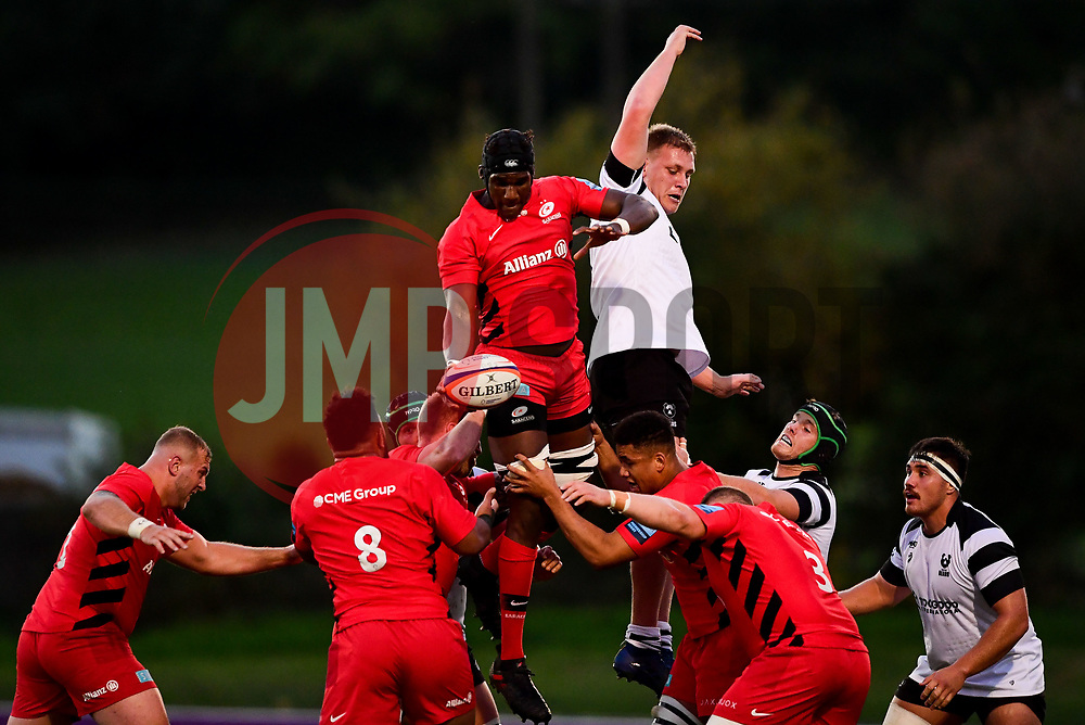 Joe Batley of Bristol Bears United is beaten to the ball at the lineout - Mandatory by-line: Ryan Hiscott/JMP - 24/09/2018 - RUGBY - Clifton RFC - Bristol, England - Bristol Bears United v Saracens Storm - Premiership Rugby Shield