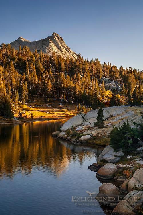 Vogelsang Peak rising above Boothe Lake, Yosemite National Park, California