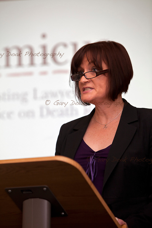 """Amicus event 'If I Should Die..."""" at the Law Society of Scotland. Speaker, Morag McLaughlin"""