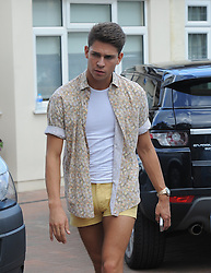 The Only Way Is Essex star Joey Essex filming at Sam Faiers house in Essex, UK. 08/08/2012<br />BYLINE MUST READ : GOTCHAIMAGES.COM<br /><br />Copyright by © Gotcha Images Ltd. All rights reserved.<br />Usage of this image is conditional upon the acceptance <br />of Gotcha Images Ltd, terms and conditions available at<br />www.gotchaimages.com
