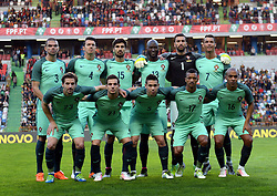 Portugal's players pose before a friendly soccer match betweem Portugal and Belgium in preparation for Euro 2016 in France at Leiria Municipal Stadium, Portugal, on March 29, 2016. Portugal won 2-1. EXPA Pictures © 2016, PhotoCredit: EXPA/ Photoshot/ Zhang Liyun<br /> <br /> *****ATTENTION - for AUT, SLO, CRO, SRB, BIH, MAZ, SUI only*****