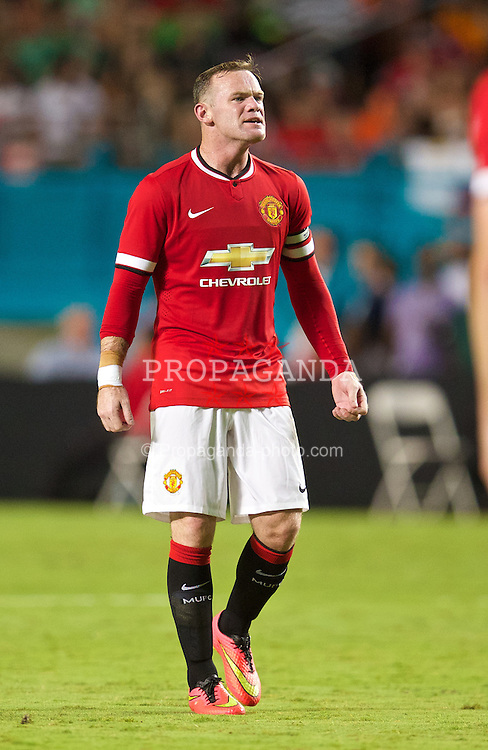 MIAMI, USA - Monday, August 4, 2014: Manchester United's Wayne Rooney in action against Liverpool during the International Champions Cup Final match at the SunLife Stadium on day fifteen of the club's USA Tour. (Pic by David Rawcliffe/Propaganda)