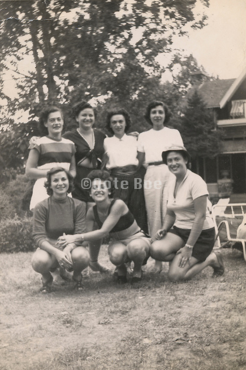 A group of young woman having a party