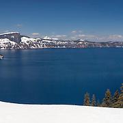 Crater Lake South Rim Overlook - Panoramic