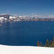 Crater Lake South Rim Overlook - Panoramic