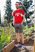 Hollywood, California: Dicky Bahto, a filmmaker, is active at the Fountain Avenue Community Garden (photo: Ann Summa).
