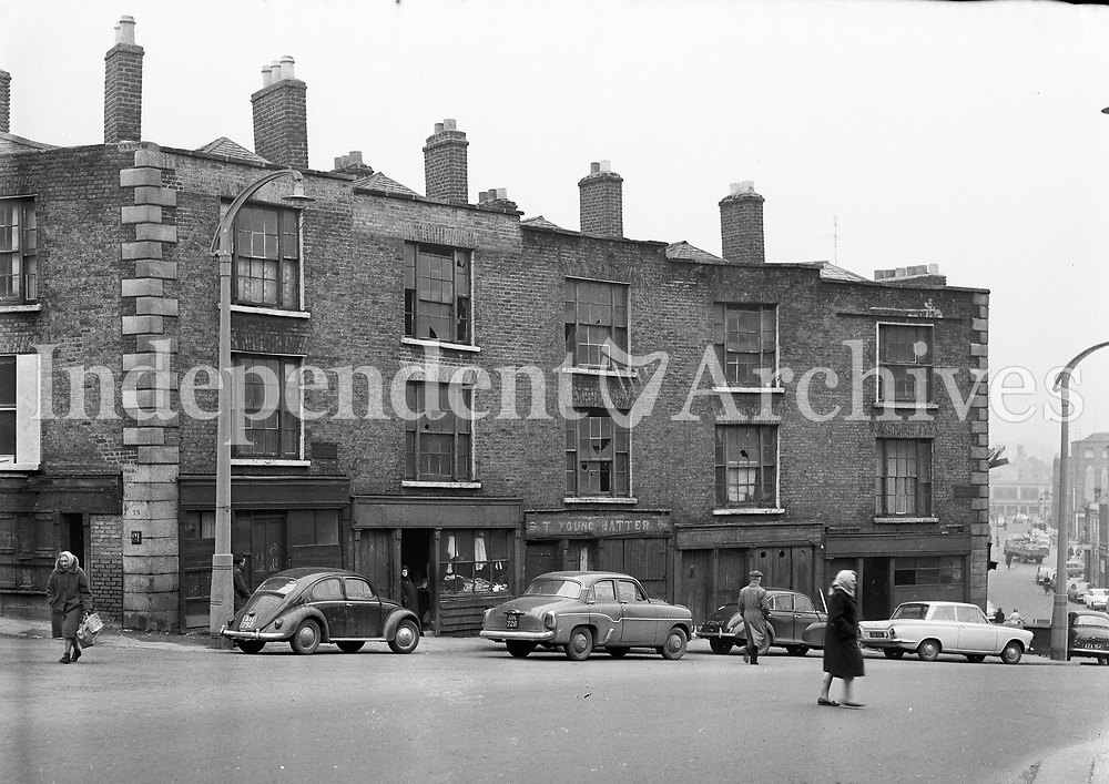 Winetavern Street in Dublin, February 21 1964. <br />