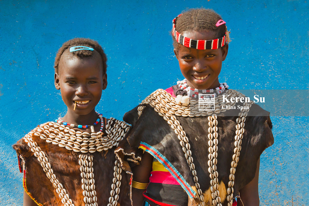 Ari tribe people in traditional clothing, Jinka, South Omo, Ethiopia