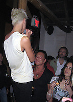 **EXCLUSIVE**.Canadian Model Eve Salvail singing for Mickey Rourke.Unik's Karaoke Sunday Party.New York, NY, USA .Sunday, April, 29, 2007.Photo By Celebrityvibe.To license this image call (212) 410 5354 or;.Email: celebrityvibe@gmail.com; .