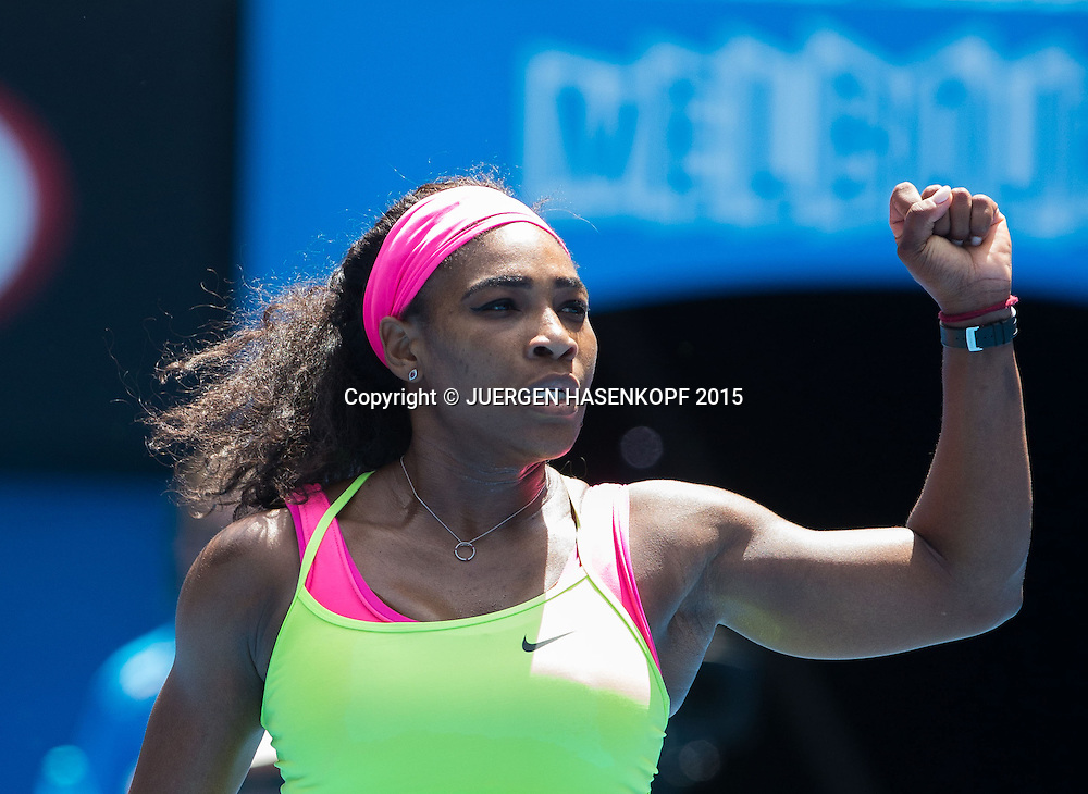 Serena Williams (USA)<br /> <br /> Tennis - Australian Open 2015 - Grand Slam ATP / WTA -  Melbourne Olympic Park - Melbourne - Victoria - Australia  - 28 January 2015.