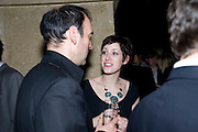 Alistair McGowan; Connie Fisher, A little Night Music press night. Garrick Theatre and afterwards at CafŽ in The Crypt, St Martin-in-the-Field. London. 7 April 2009<br /> Alistair McGowan; Connie Fisher, A little Night Music press night. Garrick Theatre and afterwards at Café in The Crypt, St Martin-in-the-Field. London. 7 April 2009
