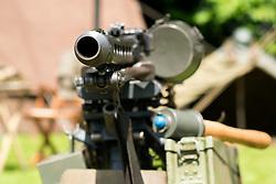 Sledmere House Nostalgia weekend German 7.92 Mauser Maschinengewehr 42, or MG42. Capable of 900-1500 Rounds per minute.<br /> <br />  25&26 June 2016<br />  Copyright Paul David Drabble<br />  www.pauldaviddrabble.photoshelter.comom