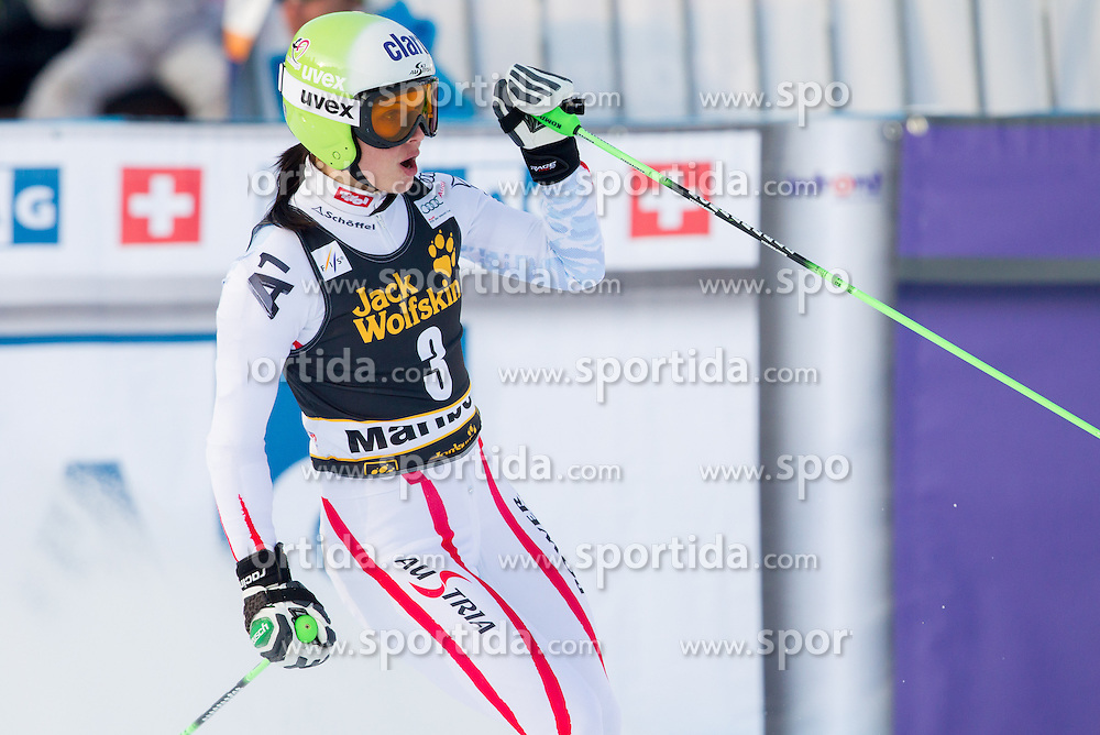 """FENNINGER Anna of Austria after she competed during the 2nd Run of FIS Alpine Ski World Cup 7th Ladies' Giant Slalom race named """"49th Golden Fox 2013"""", on January 26, 2013 in Mariborsko Pohorje, Maribor, Slovenia. (Photo By Vid Ponikvar / Sportida.com)"""