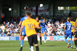 Tom Davies of Bristol Rovers wins a header against Marcus Forss of AFC Wimbledon - Mandatory by-line: Arron Gent/JMP - 21/09/2019 - FOOTBALL - Cherry Red Records Stadium - Kingston upon Thames, England - AFC Wimbledon v Bristol Rovers - Sky Bet League One