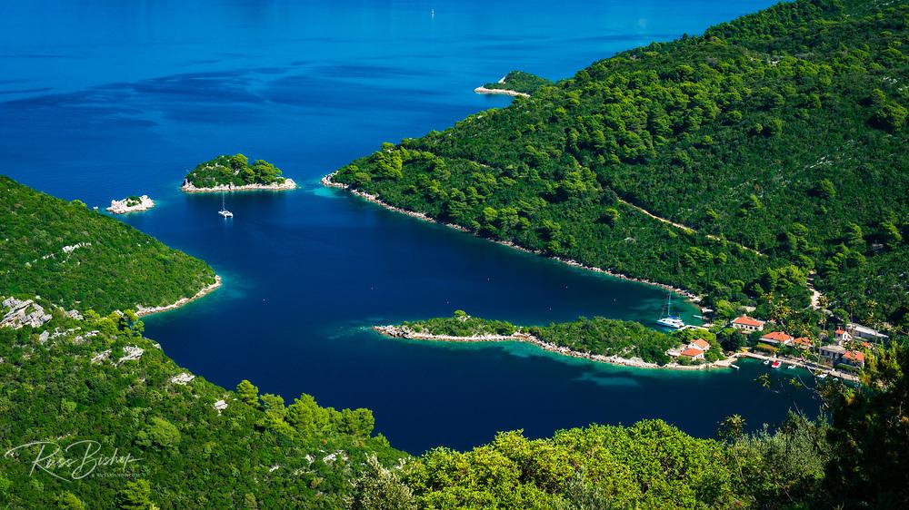 The bay at Prozurska Luka, Mljet Island, Dalmation Coast, Croatia
