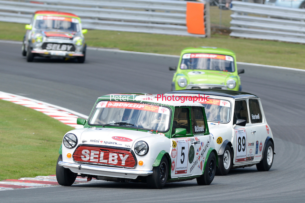 #5 Kieren McDonald Mini 7 during Mini Se7en - Race 1  as part of the Mini Festival  at Oulton Park, Little Budworth, Cheshire, United Kingdom. August 08 2015. World Copyright Peter Taylor. Copy of publication required for printed pictures.  Every used picture is fee-liable. http://archive.petertaylor-photographic.co.uk