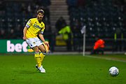 Gaetano Berardi of Leeds United (28) passes the ball during the EFL Sky Bet Championship match between Preston North End and Leeds United at Deepdale, Preston, England on 9 April 2019.