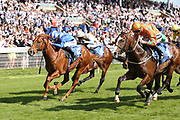 I AM A DREAMER (1) ridden by jockey Harry Bentley and trained by Mark Johnston winning The Yorkshire Regiment British EBF Novice Median Auction Stakes over 6f (£15,000)at York Racecourse, York, United Kingdom on 26 May 2018. Picture by Mick Atkins.