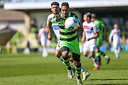 Forest Green Rovers Keanu Marsh-Brown(7) chases the ball down during the Vanarama National League Play Off second leg match between Forest Green Rovers and Dagenham and Redbridge at the New Lawn, Forest Green, United Kingdom on 7 May 2017. Photo by Shane Healey.