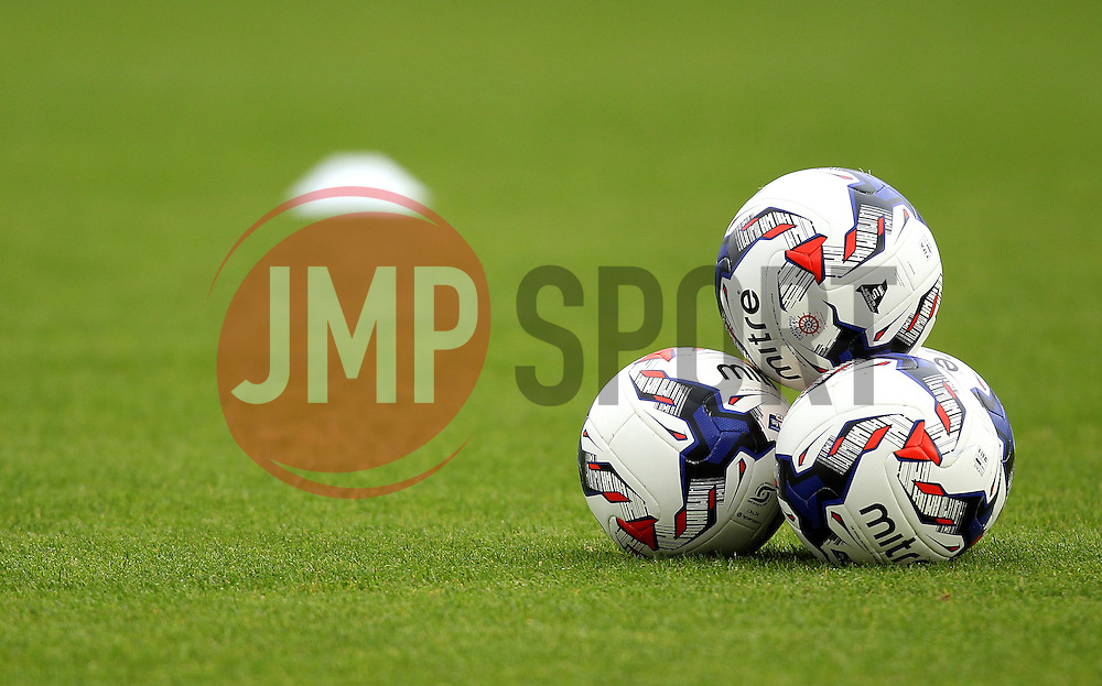 Hartlepool United's Mitre Footballs - Mandatory byline: Robbie Stephenson/JMP - 07966 386802 - 10/10/2015 - FOOTBALL - Sixfields Stadium - Northampton, England - Northampton Town v Hartlepool - Sky Bet League Two