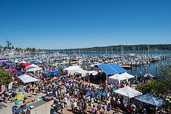 United States, Washington, Bremerton, festival at marina