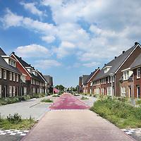 Nederland, Amstelveen , 25 juli 2012..De wijk Westwijk in de straat Westhove..Door een faillissement van projectontwikkelaar Phanos ligt de afbouw van woningen in de Westwijk al geruime tijd stil. Hierdoor zijn zo'n 180 kopers gedupeerd. De gemeente, een woningcorporatie en een aannemer hebben zich ingespannen om tot een oplossing te komen. Maandag eind dag hebben we vernomen dat die oplossing er nu definitief komt en de overeenkomst kan worden ondertekend. Morgen, op 25 juli, start de gemeente wederom met werkzaamheden in de wijk..Foto:Jean-Pierre Jans