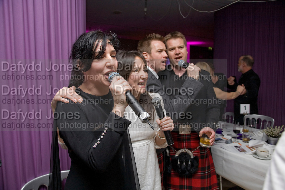 Sharleen Spiteri,  KT Tunstall, Ewan McGregor and Colin McGregor, Not Another Burns night.  Fundraising gala in aid of Clic Sargent and Children's Hospice Association Scotland (CHAS)St. Martin's Lane Hotel.  Monday 3rd March *** Local Caption *** -DO NOT ARCHIVE-© Copyright Photograph by Dafydd Jones. 248 Clapham Rd. London SW9 0PZ. Tel 0207 820 0771. www.dafjones.com.