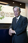 Akira Mori, president and CEO of the Mori Trust Co., poses for a photo at the company's headquarters in Tokyo, Japan, on Thursday, May 19, 2011. Photographer: Robert Gilhooly/