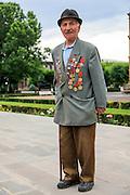 Old man with military medals. Etchmiadzin, Armavir, Armenia