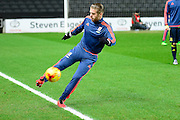 Middlesbrough Midfielder Adam Clayton during the Sky Bet Championship match between Milton Keynes Dons and Middlesbrough at stadium:mk, Milton Keynes, England on 9 February 2016. Photo by Dennis Goodwin.