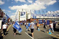 A general view of the home fans arriving at Goodison Park on the opening day of the season - Mandatory byline: Matt McNulty/JMP - 07966386802 - 08/08/2015 - FOOTBALL - Goodison Park -Liverpool,England - Everton v Watford - Barclays Premier League