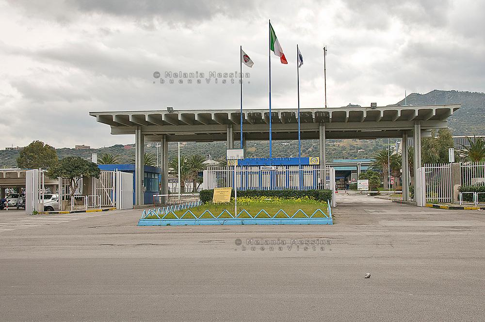 Fiat factory in Termini Imerese, Sicily.<br /> Lo stabilimento Fiat di Termini Imerese in Sicilia