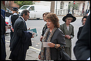 LADY ASHCOMBE; COSIMA FRY, Memorial service for Mark Shand.  . St. Paul's Knightsbridge. September 11 2014.
