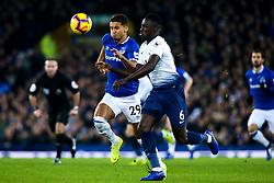 Dominic Calvert-Lewin of Everton takes on Davinson Sanchez of Tottenham Hotspur - Mandatory by-line: Robbie Stephenson/JMP - 23/12/2018 - FOOTBALL - Goodison Park - Liverpool, England - Everton v Tottenham Hotspur - Premier League