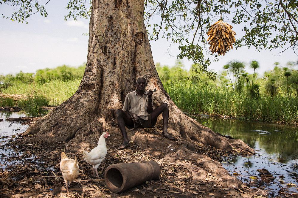 A Nile River fishing camp in Terekeka, South Sudan.
