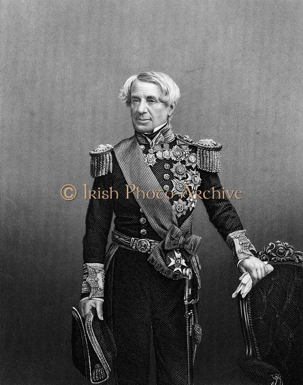 Edmund Lyons, lst Baron Lyons (1790-1858) British naval commander, c1860. Rear-Admiral of British fleet in Black Sea during Crimean (Russo-Turkish) War 1853-1856.   From 'The Illustrated News of the World'. (London, c1860). Engraving.