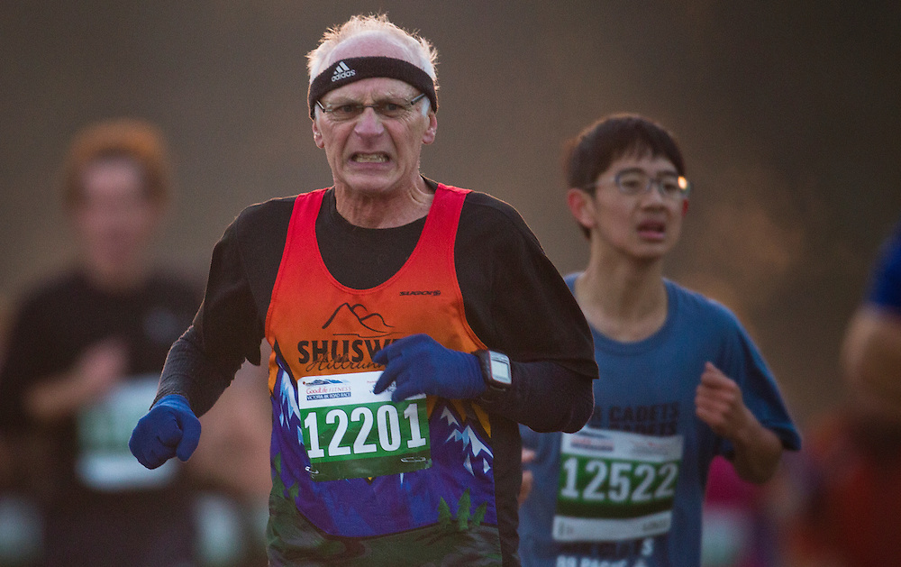 Runners compete at the 34th Annual GoodLife Fitness Victoria Marathon.