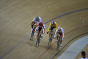 Beijing, CHINA.   Cycling, Men;s Sprint, GER, Stefan NIMKE, ITA Robert CHIAPPA, AUS Ryan BAILEY and Kazunari WATANBE. Laosham Velodrome, Tuesday - 19/08/2008, [Mandatory Credit: Peter SPURRIER, Intersport Images