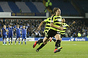 Huddersfield Town defender Michael Hefele (44) celebrates at the end of the game during the EFL Sky Bet Championship play off second leg match between Sheffield Wednesday and Huddersfield Town at Hillsborough, Sheffield, England on 17 May 2017. Photo by John Potts.