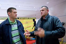 """Kosarkas Goran Jagodnik in Mario Kraljevic na okrogli mizi na temo """"Slovenska kosarka - le kos do svetovnega vrha?"""" v organizaciji SportForum Slovenija, 19. oktober 2009, Austria Trend Hotel, Ljubljana, Slovenija. (Photo by Vid Ponikvar / Sportida)"""