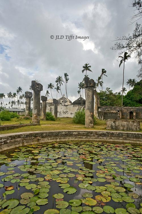 Mahurubi Palace ruins, Zanzibar, built by Sultan Barghash in 1882.