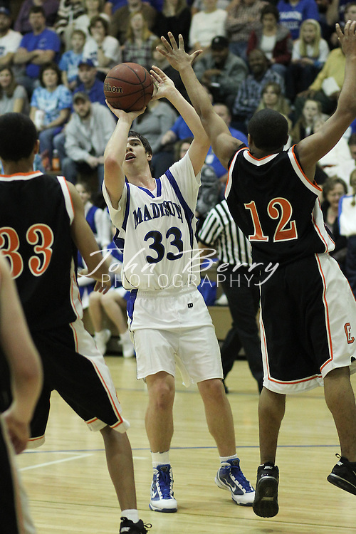 Date:  January/16/10, MCHS JV Boys Basketball vs Charlottesville Black Knights, Charlottesville wins a close one 47-44.  Josh Honaker led the way with 12 points while Patrick Roebuck added 10.
