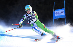 27.01.2018, Lenzerheide, SUI, FIS Weltcup Ski Alpin, Lenzerheide, Riesenslalom, Damen, 2. Lauf, im Bild Meta Hrovat (SLO) belegt den 3. Platz // Meta Hrovat of Slovenia reacts after her 2nd run of ladie's Giant Slalom of FIS ski alpine world cup in Lenzerheide, Austria on 2018/01/27. EXPA Pictures © 2018, PhotoCredit: EXPA/ Sammy Minkoff<br /> <br /> *****ATTENTION - OUT of GER*****