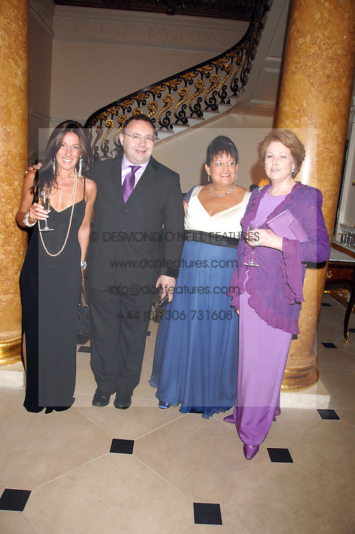 Left to right, KATRINA SEDLEY, JONATHAN SHALIT, SUSAN CLARK and LADY ELIZABETH ANSON at a pub style quiz night in aid of Rapt at Willaim Kent House, The Ritz, London on 25th June 2006.  The questions were composed by Judith Keppel and the winning team won £1000 to donate to a charity of their choice.<br />