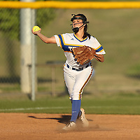 Adam Robison | BUY AT PHOTOS.DJOURNAL.COM<br /> Tupelo short stop Gracey Rutherford makes a play to first base against Hamilton Tuesday night.