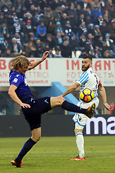 "Foto Filippo Rubin<br /> 06/01/2018 Ferrara (Italia)<br /> Sport Calcio<br /> Spal - Lazio - Campionato di calcio Serie A 2017/2018 - Stadio ""Paolo Mazza""<br /> Nella foto: DUSAN BASTA (LAZIO)<br /> <br /> Photo by Filippo Rubin<br /> January 06, 2018 Ferrara (Italy)<br /> Sport Soccer<br /> Spal vs Lazio - Italian Football Championship League A 2017/2018 - ""Paolo Mazza"" Stadium <br /> In the pic: DUSAN BASTA (LAZIO)"