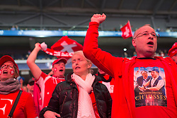 23.11.2014, Stade Pierre Mauroy, Lille, FRA, Davis Cup Finale, Frankreich vs Schweiz, im Bild Feature Schweiz Fan // during the Davis Cup Final between France and Switzerland at the Stade Pierre Mauroy in Lille, France on 2014/11/23. EXPA Pictures © 2014, PhotoCredit: EXPA/ Freshfocus/ Valeriano Di Domenico<br /> <br /> *****ATTENTION - for AUT, SLO, CRO, SRB, BIH, MAZ only*****